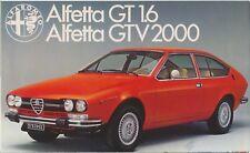 ALFA ROMEO ALFETTA GT 1.6 & GTV 2000 1976-79 ORIGINALE UK Opuscolo Vendite PIEGA