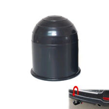 Tow Bar Ball Cover Cap Car Auto Towing Hitch Towball Protect 50mm Black Plastic