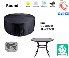 Patio Garden Outdoor Round Table &amp Chair Set 6/8 Cover Protector 420d 2 Size