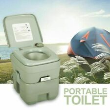 Portable Toilet Flush Travel Camping Commode Potty Outdoor/Indoor 5 Gallon 20 L
