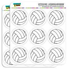 "Cartoon Volleyball 2"" Scrapbooking Crafting Stickers"