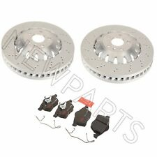 NEW Audi TT Quattro RS 12-13 Set of 2 Front Brake Disc Rotors with Pads OEM