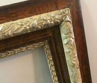 Antique Ornate Wood Carved Frame Picture Photo Gesso Painting Gold Baroque 17x14