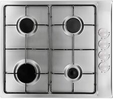 Myappliances REF28926 60cm 4 Burner Stainless Steel Gas Hob Enamel Pan Stands