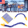 """12x 1/4"""" Flexible Plastic Water Oil Coolant Pipe Hose for Lathe CNC w Switch US"""