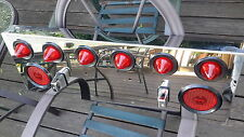 Class 8 truck tractor rear tail light stainless  LED panel light bar