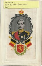 More details for ww1 embroidered silk: albert i, king of the belgians from 1909-34.
