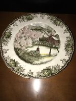 """Vintage Johnson Brothers The Friendly Village 10 3/4 """" Plate The Well"""