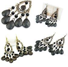 Womens Earrings Chandelier Drop Dangly Black Ear Studs Boho Beaded Jewellry