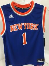 ADIDAS YOUTH BOYS AMARE STOUDEMIRE NY KNICKS AWAY JERSEY BLUE MED NWT $50