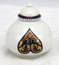 Decorative Byzantium Elizabeth Arden White Porcelain Jar with Lid Made in Japan