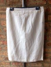NEW~Bogari White Linen Pencil Skirt~Medium~NWT~Ivory