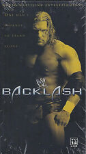 WWE Backlash 2002 VHS Video SEALED Triple H Hulk Hogan Austin Undertaker Brock