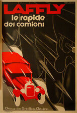 1980s RESTRIKE OF CLASSIC ART DECO  POSTER, LAFFLY CAMIONS - AFTER ROGGERO