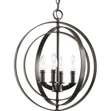 Progress Lighting P3827-20 4-Light Sphere Foyer Lantern with Pivoting Ring