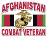 """Marine Corps with EGA Afghanistan Combat Veteran 8"""" Military Sticker / Decal"""