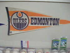 1987-88 EDMONTON OILERS TEAM AUTOGRAPHED PENNANT 18 SIGNATURES GRETZKY COFFEY
