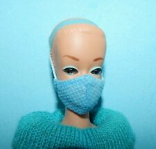 Ooak Custom Hand Made Face Mask * Barbie Doll Size * 1:6 Scale * Fully Lined