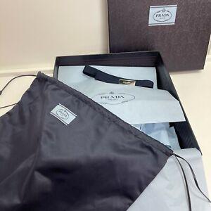 30x34x11cm Genuine Prada Medium Box with dust bag & elastic ribbon