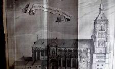 Eglise Notre Dame à TONGRES GRAVURE originale DELICES des PAYS BAS 1711