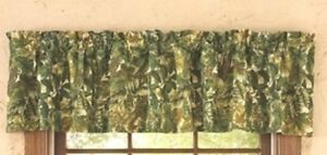 *CLEARANCE*   Forest Retreat Camoflage window Valance by Park Design