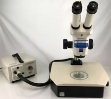 Zeiss Stemi SV 6 Stereo Microscope w/ Diascopic Stand and Fostec Light Source