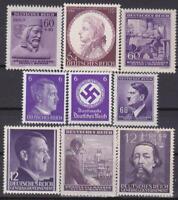 Third Reich 9 MNH Nazi Swastika / Hitler Stamps!!