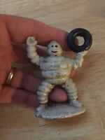Michelin Tire Man Cast Iron Collector Paperweight Patina Metal Vintage Style! Ex