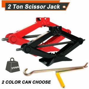 2 Ton Scissor Jack Car Van Wind Up Tyre Lift Garage Home Emergency Tool Repair