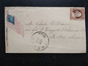 Civil War: Woburn (1861) #26 Stand by the Union Flag Patriotic Cover
