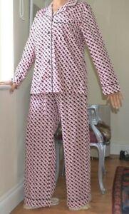 COSABELLA Pink Black print Sleep Shirt Lounge Pants Cotton Pajamas x DVF New XS