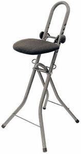 Bügelstehhilfe höhenverstellbar - Stehhilfe Stehstuhl Stehsitz Bügelstuhl Bügeln