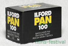 10 rolls ILFORD PAN 100 B/W 35mm Camera Film Black and White FREESHIP