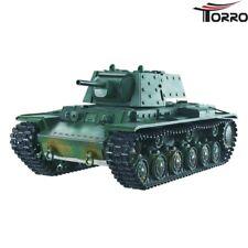 RC tanques kv-1 TORRO 2.4ghz pro-Edition bb con cadenas de metal y metal engranajes