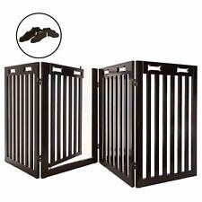 "New listing 80"" Panel Wooden Folding Indoor Pet Dog Gate Freestanding Safety Fence w/ Door"
