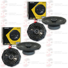 "4 x BRAND NEW KICKER 6.5-INCH 6-1/2""  2-WAY CAR AUDIO COAXIAL SPEAKERS"