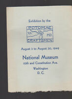 Potomac Craftsmen August 1949 Exhibition National Museum Brochure