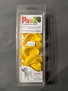 PawZ Protex Dog Boots Water-Proof Paws Disposable Reusable XX-Small Yellow