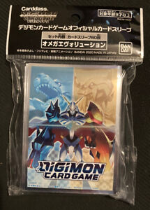 Omnimon Official Digimon Trading Card Sleeves 60 Pack Standard Size