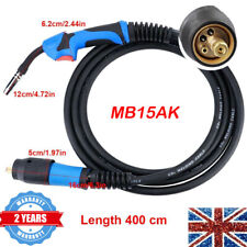 Mig Gas Shield Welding Torch Mb15 4m Euro Standard Connector Flexible Mono Cable