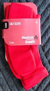 NIB Men's CrossFit Red Reebok CrossFit Compression Calf Sleeves - Size XL 19-21