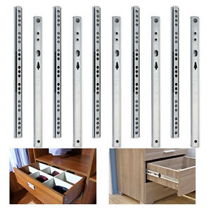 For Grooved Drawer Sides/Drawers Units,5 Pairs 17MM Ball Bearing Drawer Runners