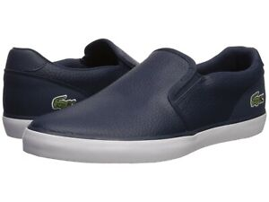 Lacoste Jouer 319 Men's Casual Leather Slip on Shoes Sneakers Black Blue White