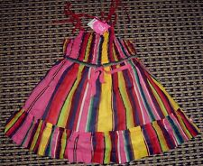 FRED BARE BABY GIRLS VIBRANT STRAP DRESS SZ 0 NEW WITH TAGS