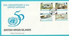 Jungferninseln aus 1995 MiNr. 835-838 FDC 50 Jahre UNO Flugzeuge Auto