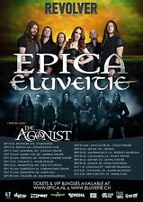 Epica / Eluveitie 2015 North American Concert Tour Poster -Symphonic Metal Music