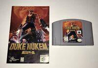 Duke Nukem 64 (Nintendo 64, 1997) Tested - Authentic With Manual