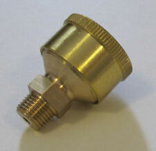 """RDGTOOLS SMALL BRASS GREASE CUP 1/8"""" BSP x 1"""" DIAMETER"""
