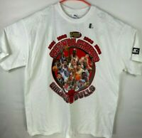 VTG New 1997 Deadstock Chicago Bulls Starter NBA Finals Shirt XL Single Stitch