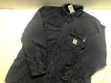 Carhartt Large FR Shirt NFPA 2112 Flame Resistant FRS160 Blue Work Cotton